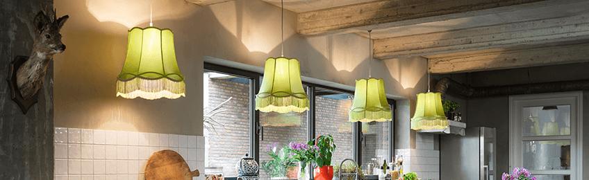 Zielone lampy