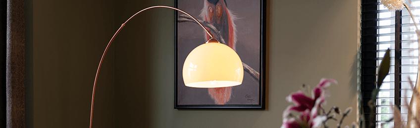 Lampa podłogowa ze szkła