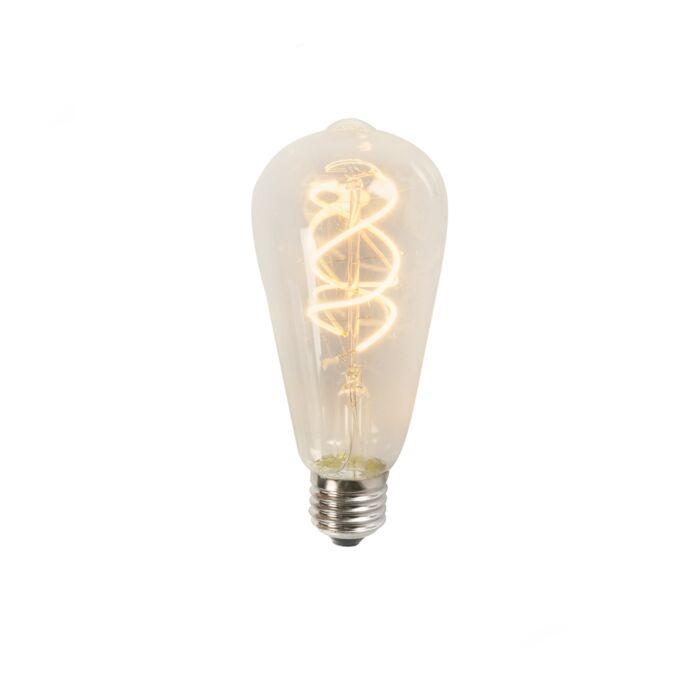 Żarówka-LED-filament-spiralny-żarnik-ST64-5W-2200K-przezroczysta