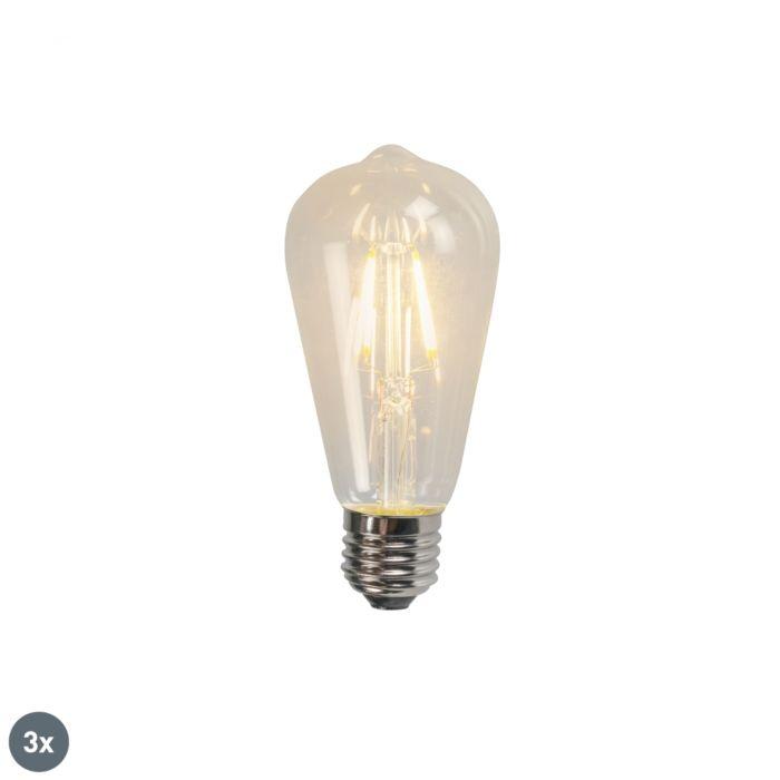 Zestaw-3-x-żarówka-LED-E27-filament-ST64-4W-470LM-2700K