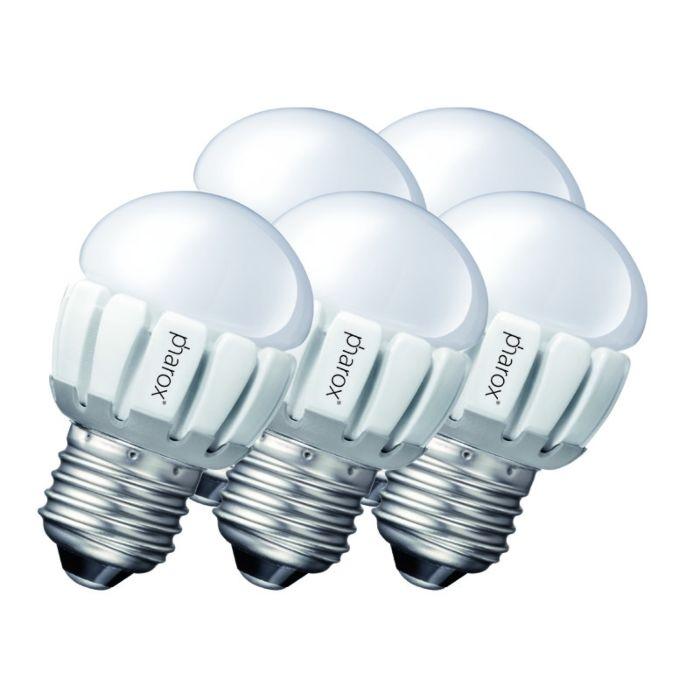 Zestaw-5-żarówek-Pharox-LED-200-P45-E27-5W-230V
