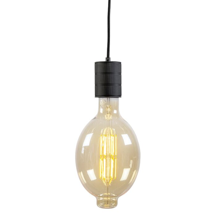 Lampa-wisząca-Calex-retro-czarna-E40-200-cm