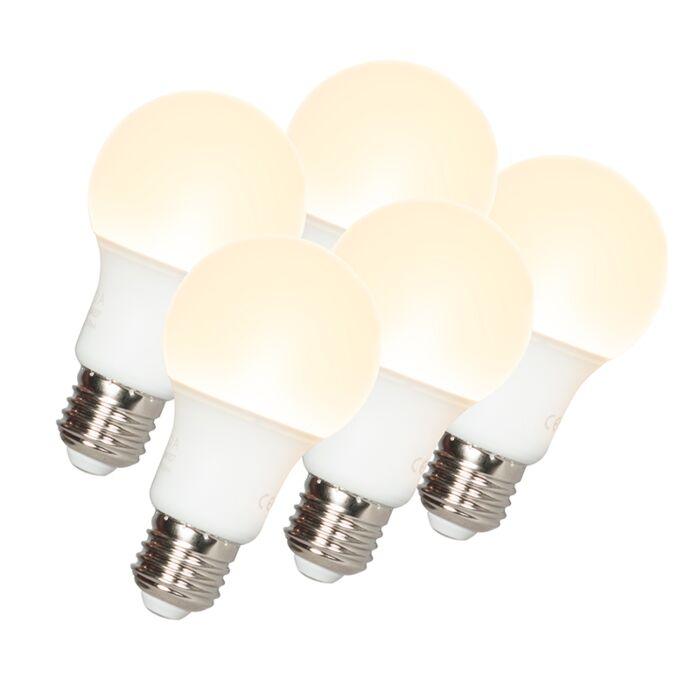 Zestaw-5-żarówek-LED-A60-E27-9W-3000K
