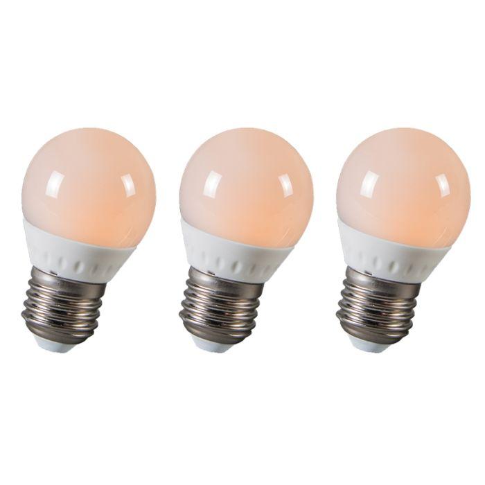 Zestaw-3-żarówek-LED-kulka-E27-3W-250-lumenów-ok.-25W