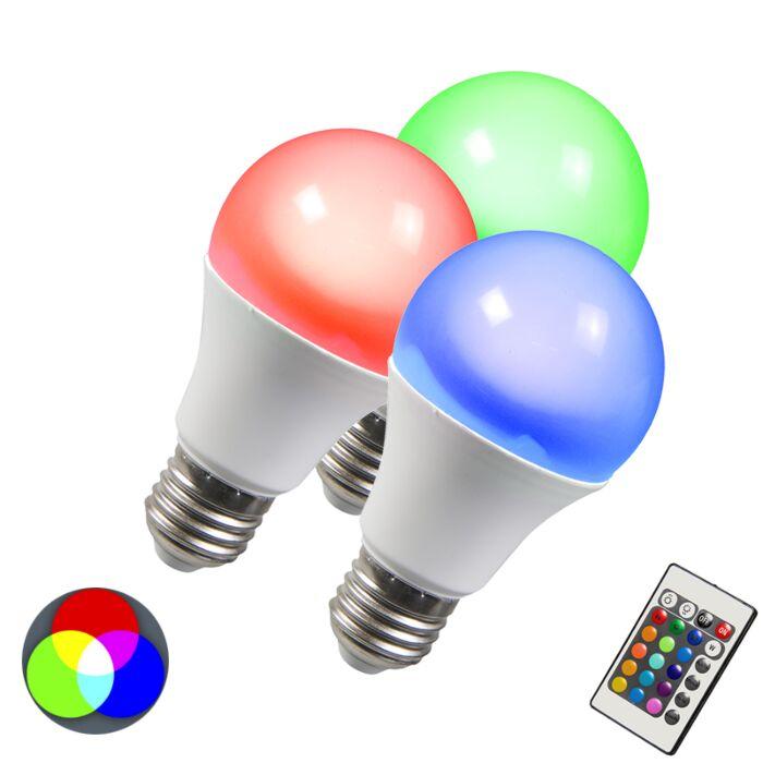 Zestaw-3-żarówek-LED-RGB-E27-10W-+-ekstra-ciepłobiała