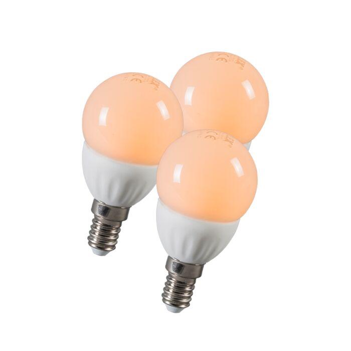 Zestaw-3-żarówek-LED-kulka-E14-3W-250-lumenów-ok.-25W