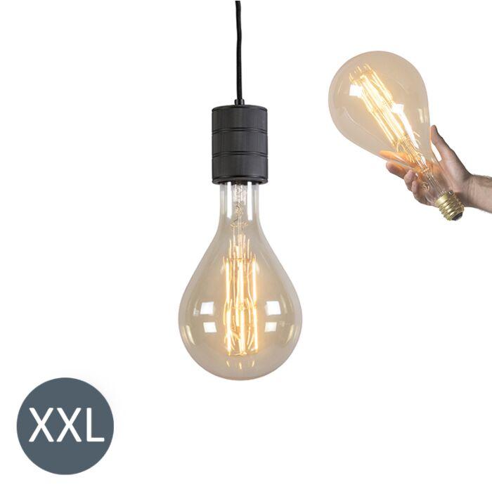 Lampa-wisząca-Splash-czarna-ze-ściemnianą-żarówką-LED