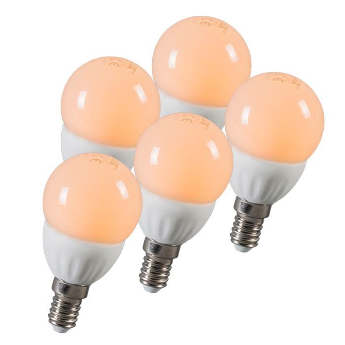 Zestaw-5-żarówek-LED-kulka-E14-3W-250-lumenów-ok.-25W