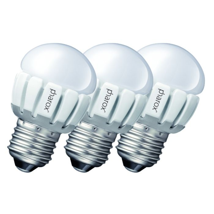 Zestaw-3-żarówek-Pharox-LED-200-P45-E27-5W-230V