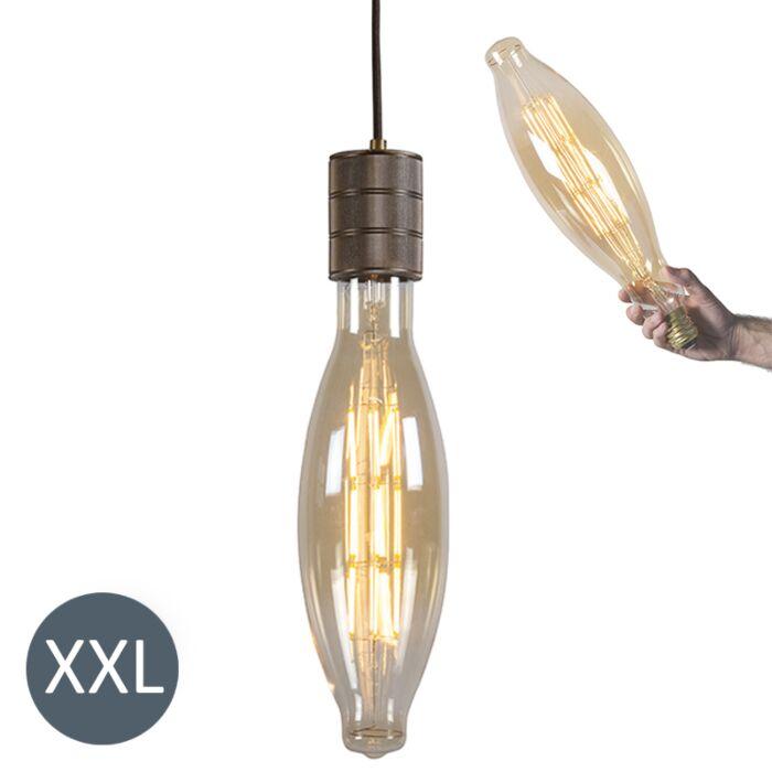 Lampa-wisząca-Elips-brązowa-ze-ściemnianą-żarówką-LED
