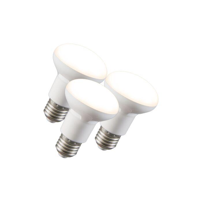 Zestaw-3-żarówek-LED-reflektor-R63-E27-240V-8W-2700K-ściemnialna