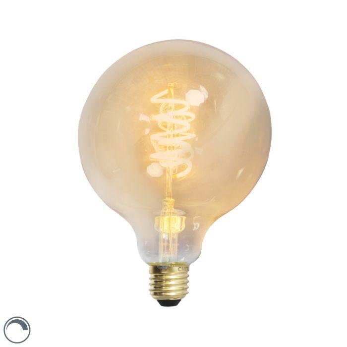 Żarówka-LED-E27-ściemnialna-skręcony-żarnik-filament-G125-złota