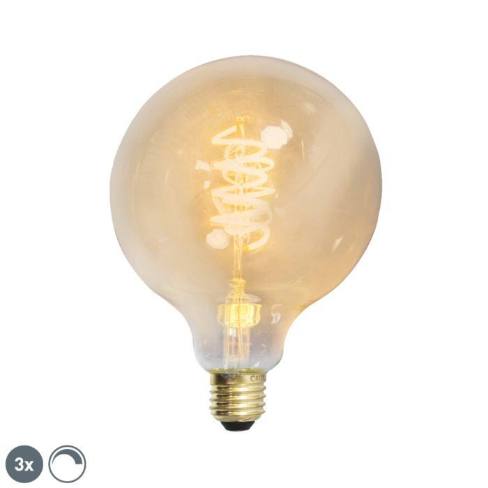 Zestaw-3-x-żarówka-LED-E27-ściemnialna-skręcony-żarnik-filament-G125-złota