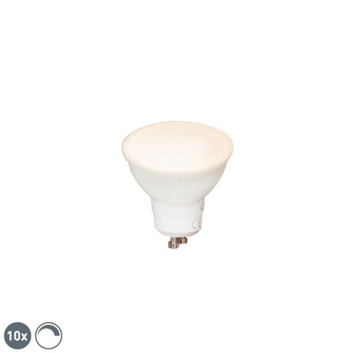 Zestaw-10-x-żarówka-LED-GU10-6W-450lm-2700K-ściemnialna