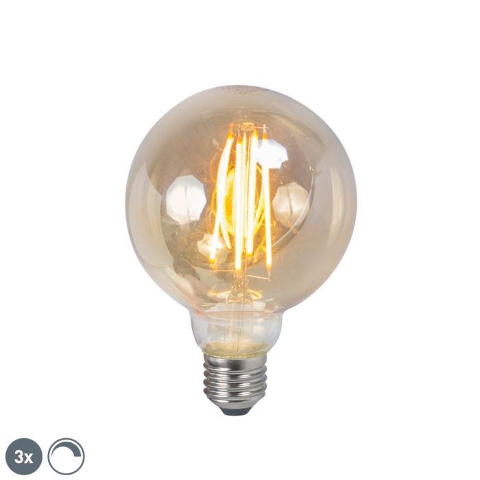 Zestaw-3-żarówek-LED-filament-G95-5W-2200K-przydymiona-ściemnialna