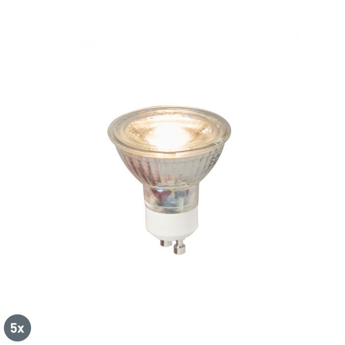 Zestaw-5-x-żarówka-LED-GU10-COB-5W-380LM-3000K