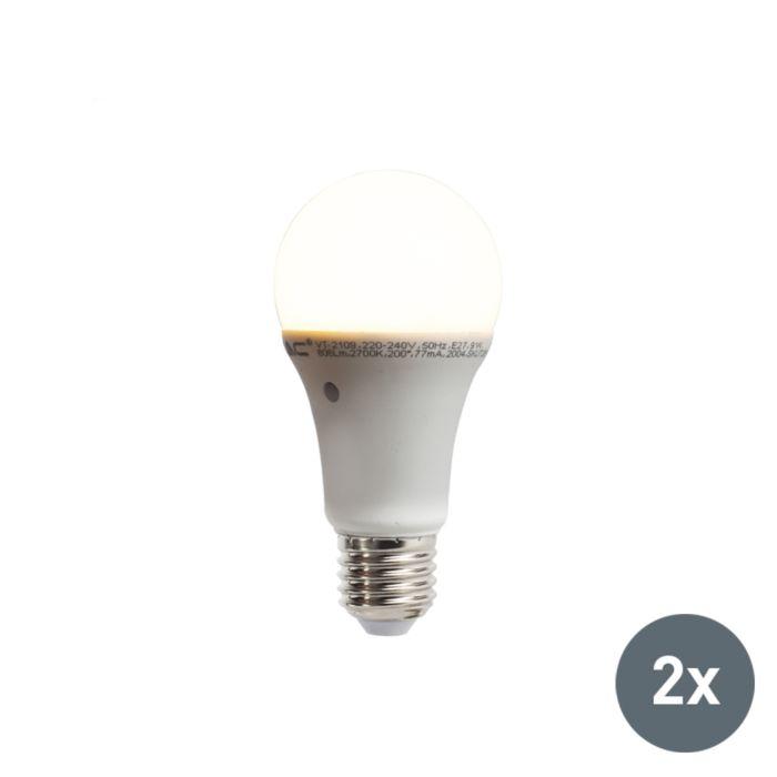 Zestaw-2-żarówek-LED-z-wbudowanym-czujnikiem-zmierzchu-E27-9W-806-lumenów-ciepło-biała-2700K