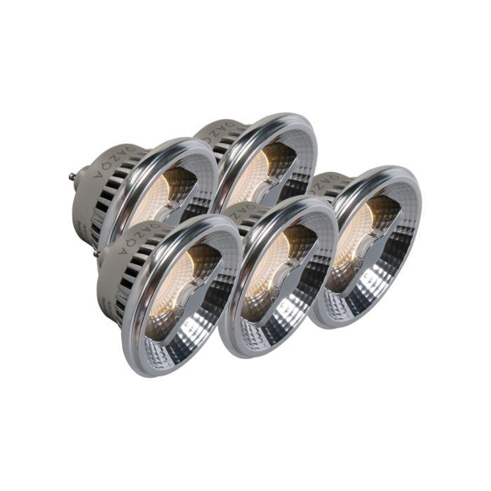 Zestaw-5-żarówek-LED-GU10-AR111-12W-240V-3000K-ściemniana