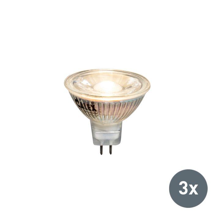 Zestaw-3-x-żarówka-LED-MR16-3W-230lm-2800K