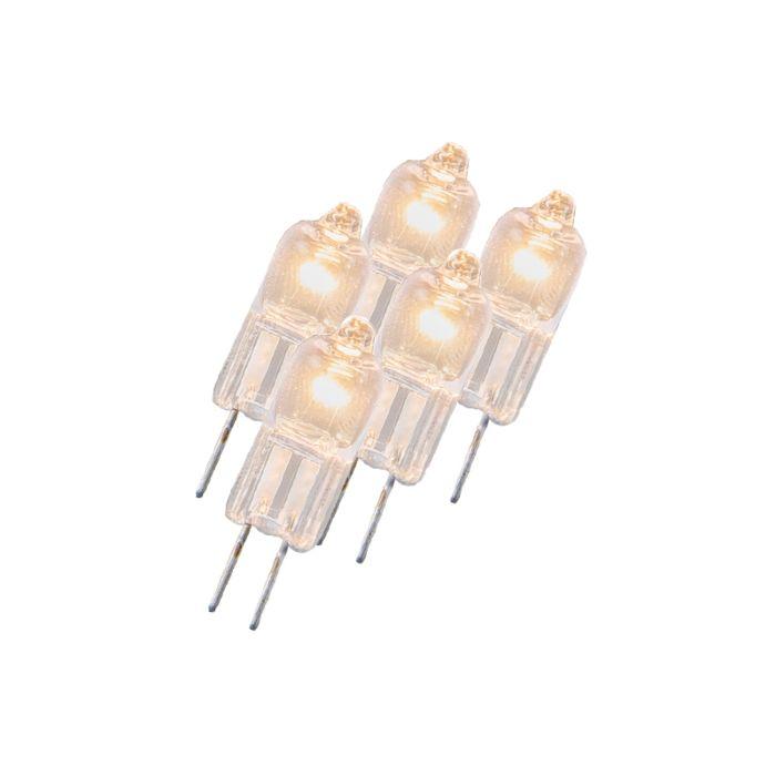 Zestaw-5-żarówek-halogenowych-G4-5W-12V-przezroczysta