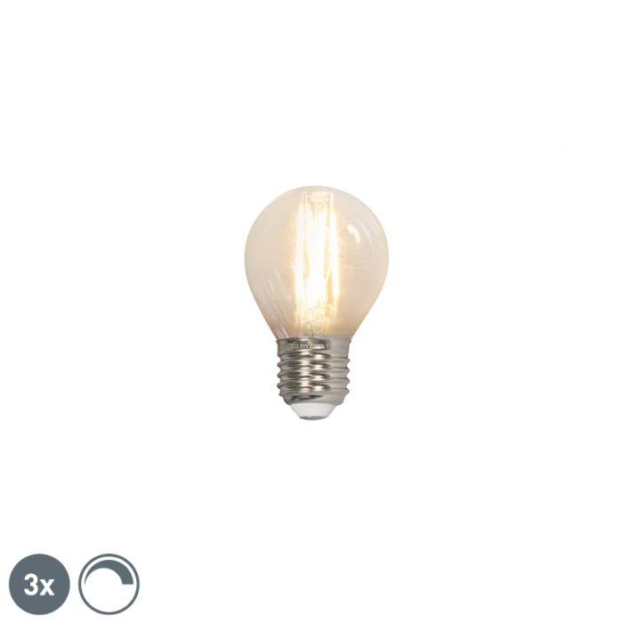 Zestaw-3-x-żarówka-kulka-LED-E27-P45-3.5W-350lm-2700K-filament-ściemnialna