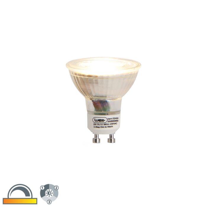 GU10-3-stopniowa-ściemniana-do-ciepłej-lampa-LED-5W-380-lm-2000-2700K