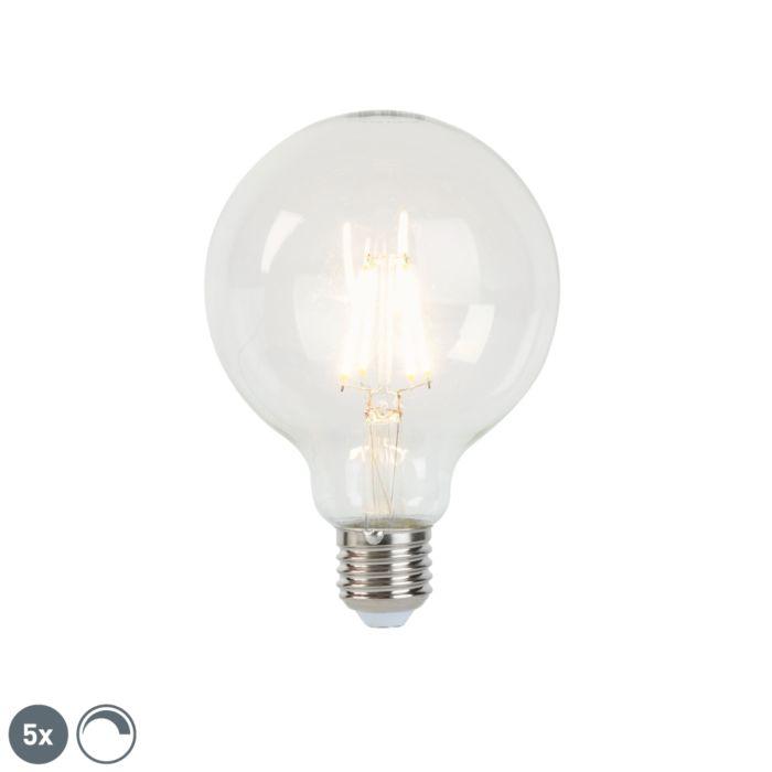 Zestaw-5-ściemnialnych-żarówek-LED-E27-G95-5W-470-lm-2700-K.