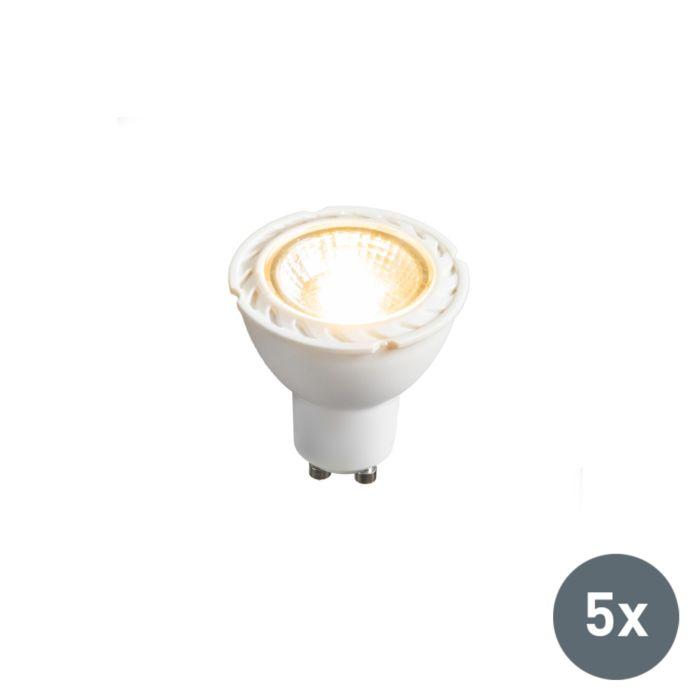 Zestaw-5-żarówek-LED-GU10-240V-7W-2700K-ściemnialna
