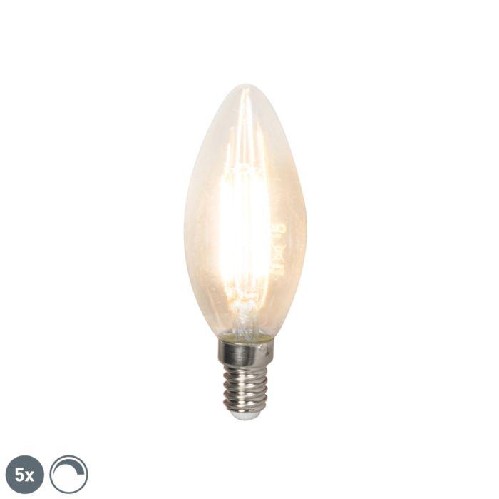 Zestaw-5-x-żarówka-świeczka-LED-E14-filament-B35-3.5W-350lm-2700K-ściemnialna