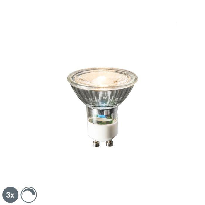 Zestaw-3-x-żarówka-LED-GU10-6W-450-lm-2700K-ściemnialna