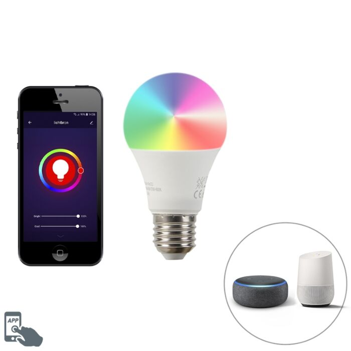Żarówka-WiFi-LED-E27-A60-9W-800lm-2200-4000K
