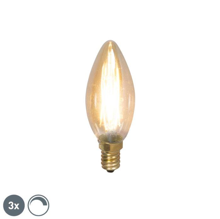Zestaw-3-x-żarówka-świeczka-LED-E14-filament-3.5W-200lm-2100K-ściemnialna