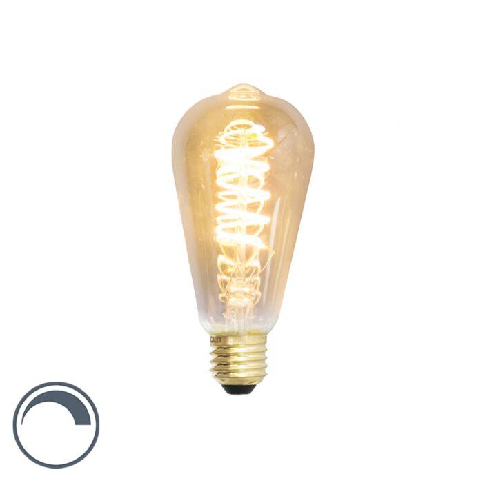 Żarówka-LED-E27-ST64-filament-skręcony-4W-200lm-2100K-ściemnialna