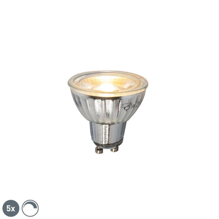 Zestaw-5-żarówek-LED-GU10-7W-500LM-2700K-ściemnialna