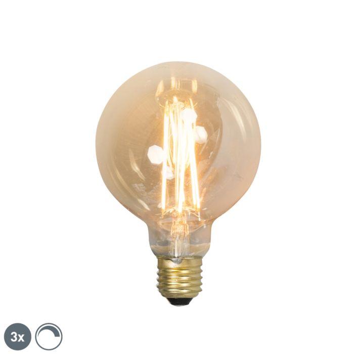 Zestaw-3-x-żarówka-LED-E27-G95-filament-2100K-złota-ściemnialna-