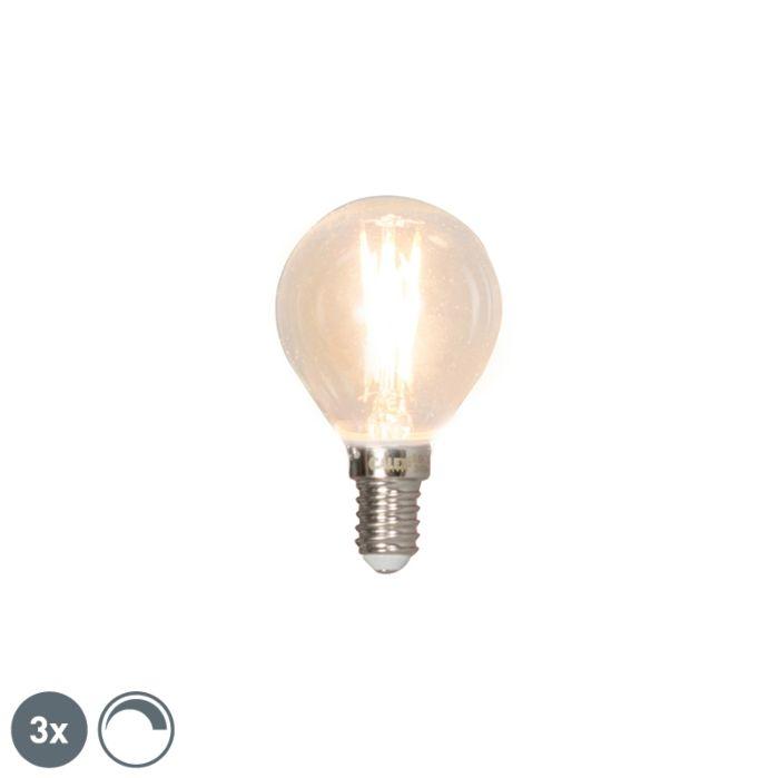 Zestaw-3-żarówek-LED-E14-filament-kulka-3W-350lm-2700K-ściemnialna