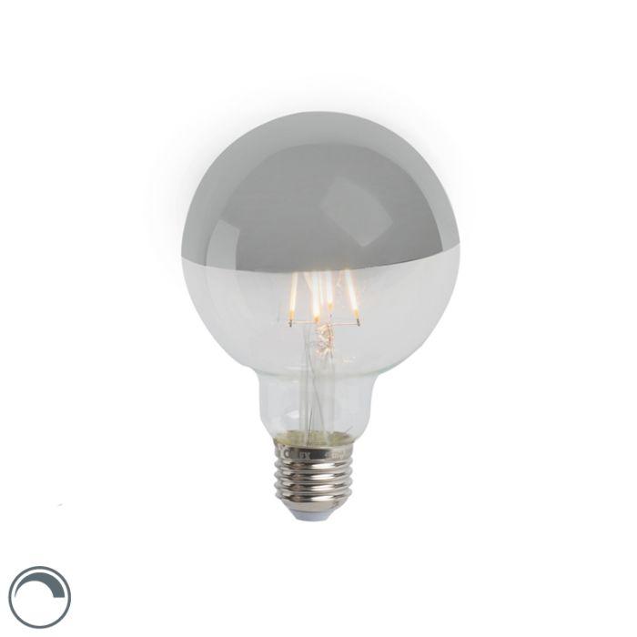 Żarówka-lustrzana-LED-E27-G95-srebrna-280lm-2300K