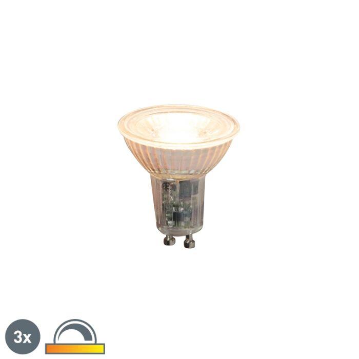 Zestaw-3-x-żarówka-LED-GU10-5,5W-360-lm-2000K---2700K-ściemnialna