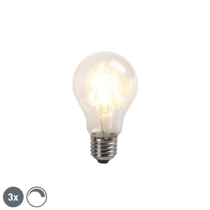 Zestaw-3-żarówek-LED-Filament-E27-4W-390lm-ściemnialna