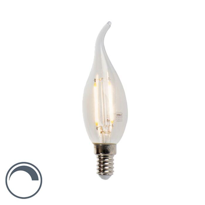 Żarówka-świeczka-LED-E14-filament-3W-2700K-250lm-F35-ściemnialna