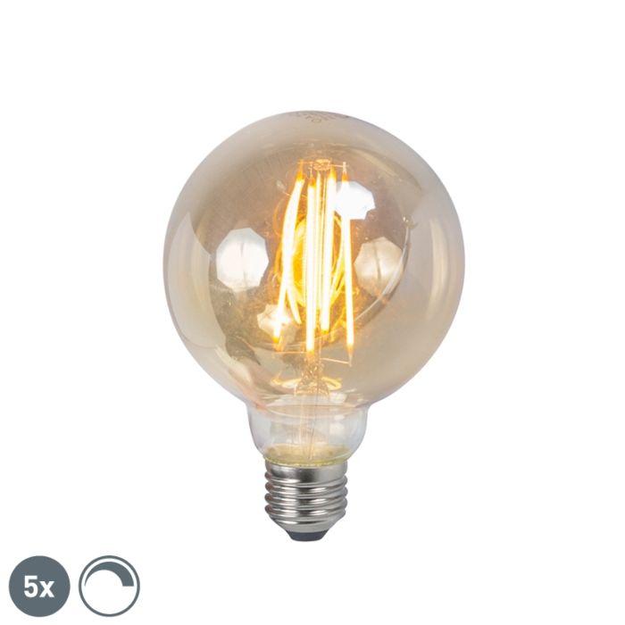 Zestaw-5-żarówek-LED-filament-E27-5W-450lm-2200K-ściemnialna