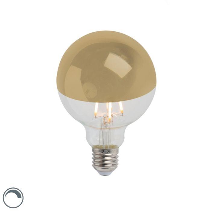 Żarówka-lustrzana-LED-E27-G95-złota-280lm-2300K