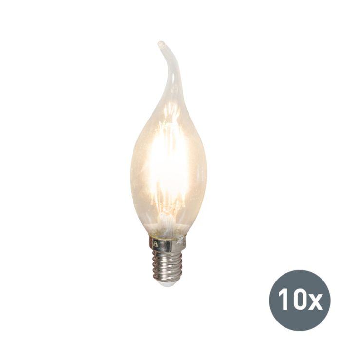 Zestaw-10-żarówek-LED-świeczka-z-żarnikiem-E14-240V-3,5W-350lm-BXS35-ściemniana