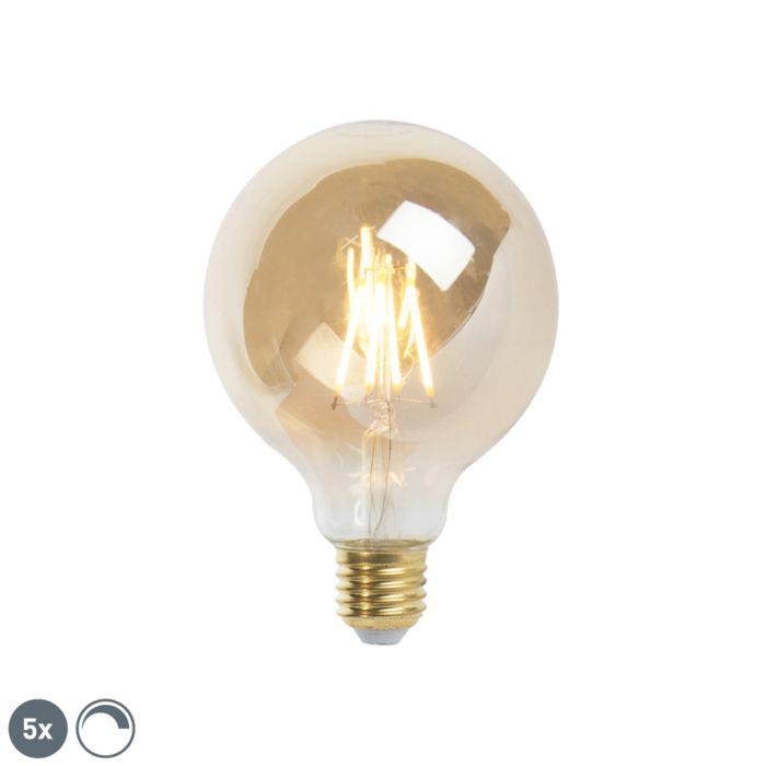 Zestaw-5-żarówek-LED-ściemnialnych-E27-9,5-cm-5W-360-lumenów-2200-K.