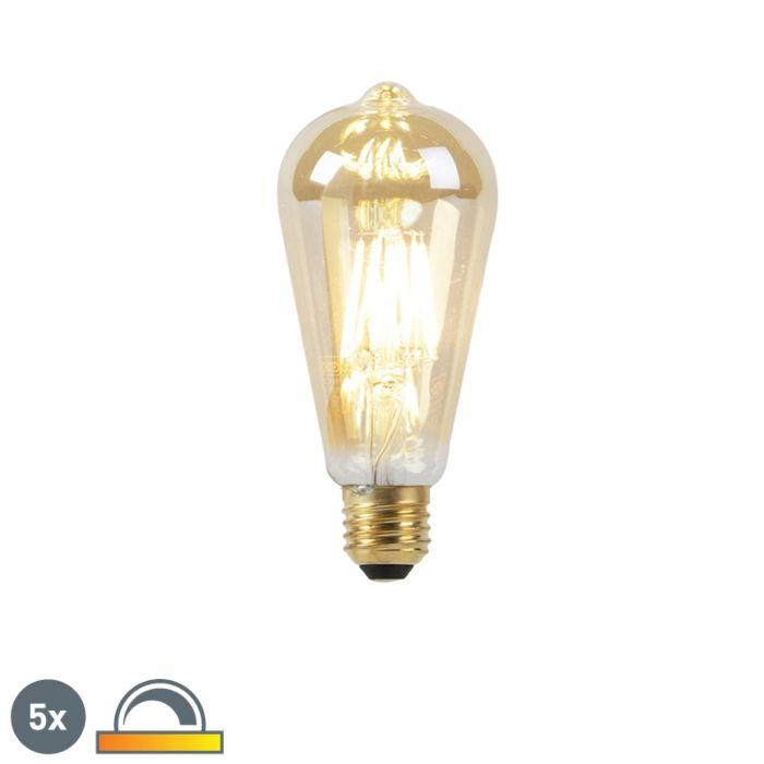 Zestaw-5-żarówek-LED-E27-8W-2000-2600K-ściemnialna-regulowana-barwa-światła-