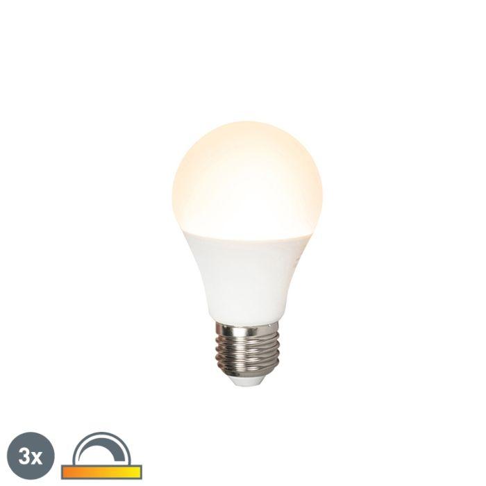 Zestaw-3-x-żarówka-LED-E27-A60-7W-510lm-2000K-2700K-ściemnialna