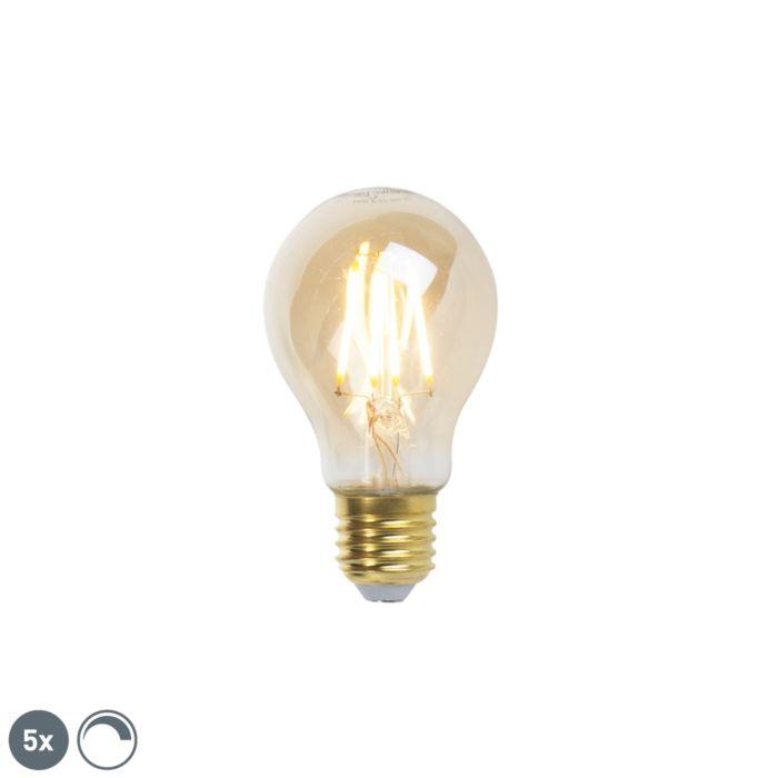 Zestaw-5-x-żarówka-LED-E27-goldline-360lm-2200K-ściemnialna