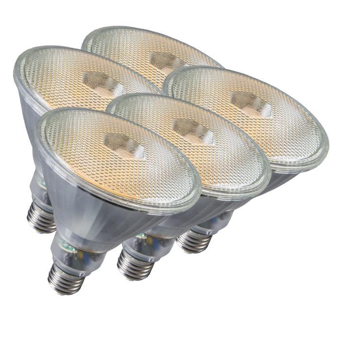 Zestaw-5-świetlówek-Par38-E27-20W-800LM-2700K