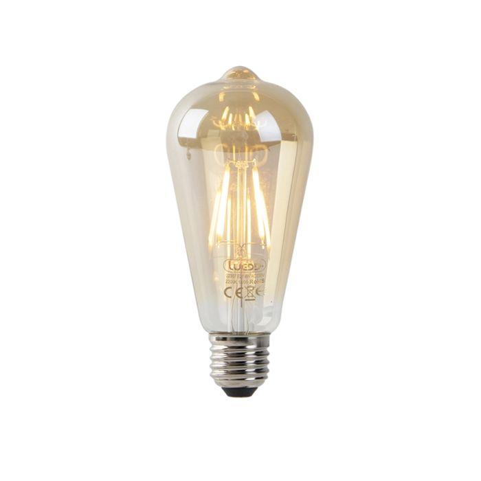 Żarówka-LED-E27-ST64-4W-2200K-złota-filament-czujnik-zmierzchu