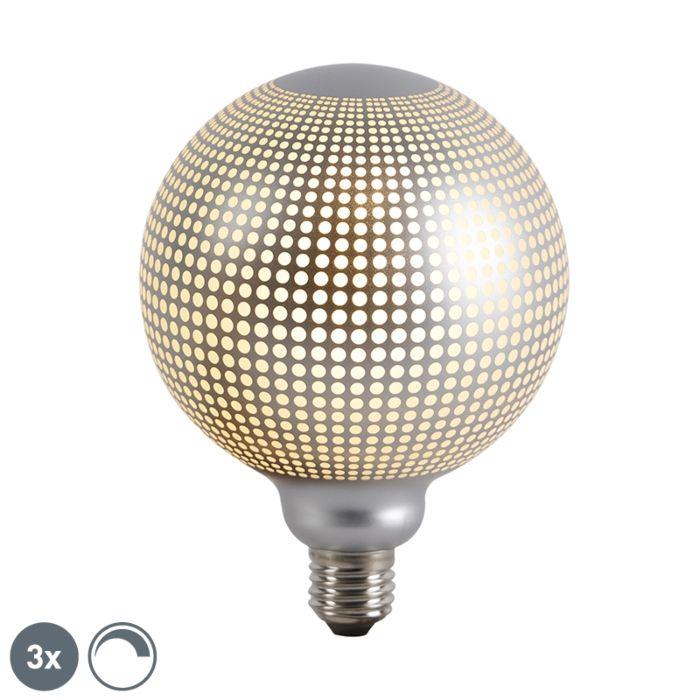 Zestaw-3-x-żarówka-DECO-LED-E27-4W-240-lm-2700K-kula-ściemnialna-srebrna